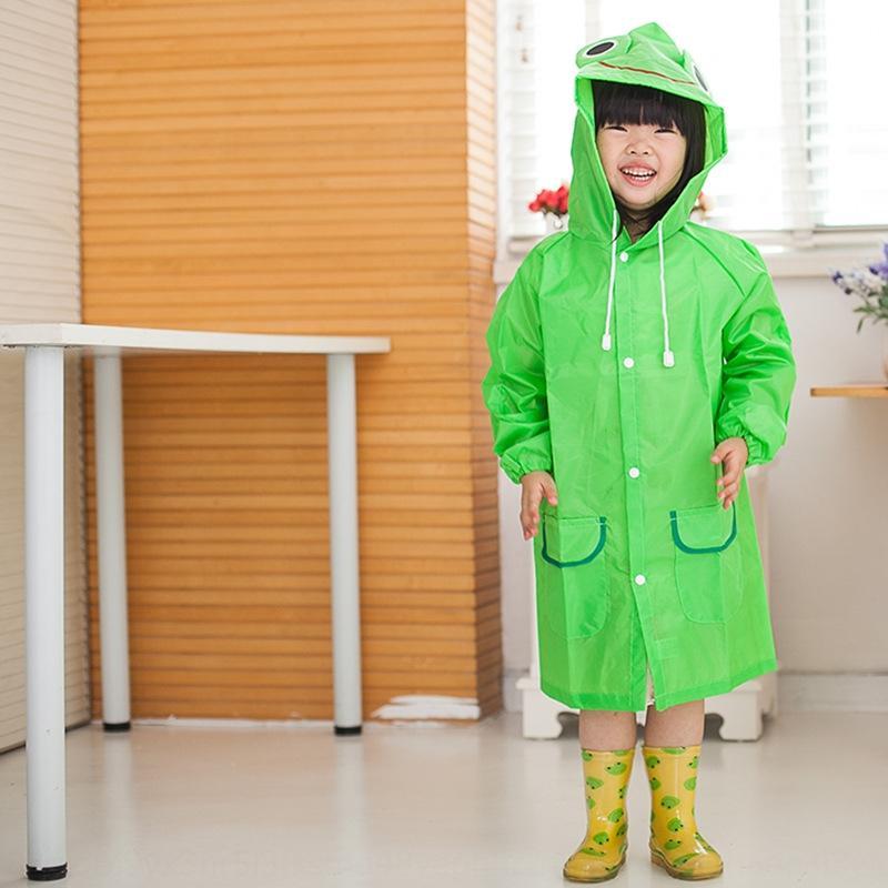 çocuk ceket yansıtıcı şerit ile Yansıtıcı şerit Yağmur dişli yağmur dişli panço kalın HAPPYFUN karikatür hayvan stili