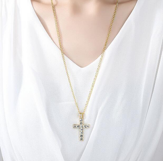 collier croix femme