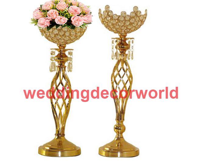 Yeni stil Altın Mumluk Metal Şamdan Çiçek Vazo Masa Centerpiece Olay Çiçek Raf Yol Kurşun Düğün Dekorasyon decor0778