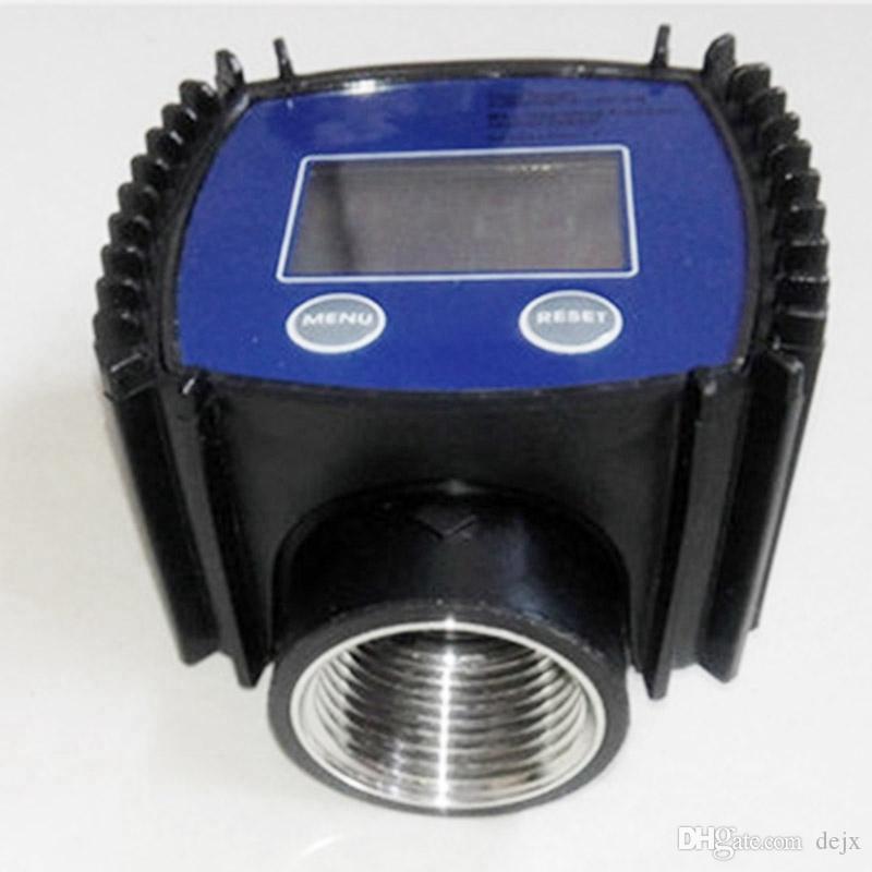 Débitmètre numérique réglable de turbine de Freeshipping K24 pour l'urée de l'eau de méthanol d'essence de produits chimiques d'huile de kérosène, etc. 10-120L / Min