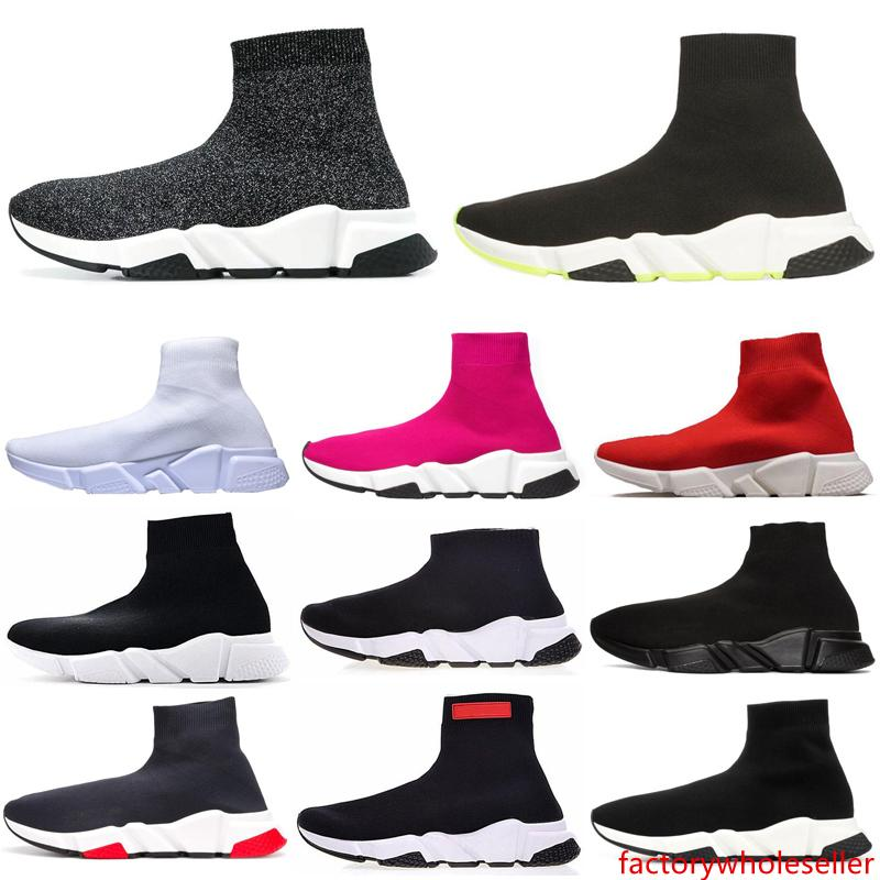 New ACE Luxury Of dream Designer casual sock Shoes Speed Trainer Black Red Triple Black Fashion Socks Sneaker Trainer casual shoe