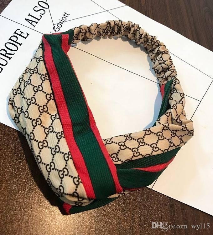 Neue Ankunfts-Frauen-Designer Stirnband Bohemian Brief Haarbänder Haarschmuck Zubehör Luxus Kopftuch Mix Farben