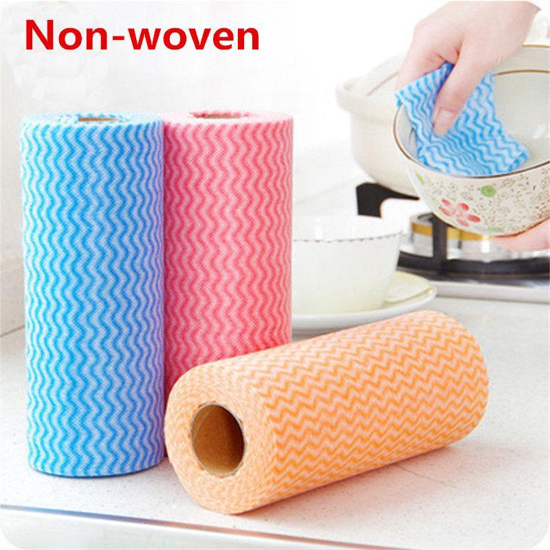 DHL pronto para enviar, não teceu rolos de papel de cozinha absorção de óleo de absorção de água WC rolo de papel de cozinha descartável pano toalha FY6132
