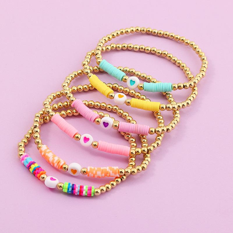6mm vinyl heishi beads pink panther African vinyl beads bracelet beads heishi beads bracelet 350-400 beads per strand