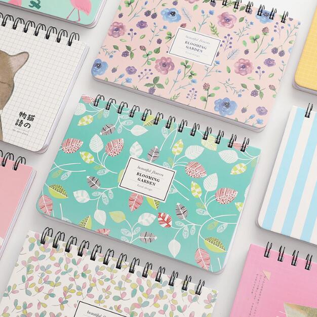 Piece Korean Flower Coil Weekly Planner Spiral Notebook Dairy Memo Sketch Book To Do It Notepads School Notebook Birthday Gift
