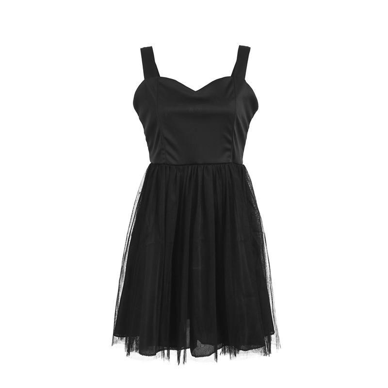 Fashion Summer Women Sleeveless Lace Tutu Mesh Dress Prom Party Dance Dresses Costume