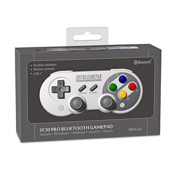 EastVita 8Bitdo SF30Pro / SN30 Pro 2.4G Wireless USB Bluetooth Gamepad per N ES Interruttore / Windows / MacOS / Android Rumble vibrazioni R30