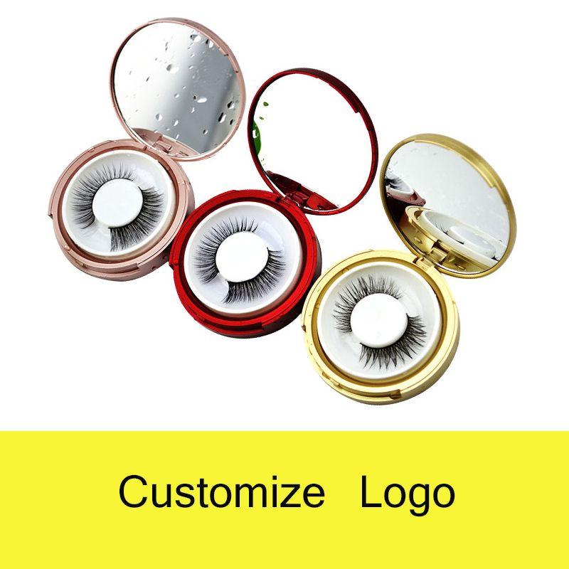 3D Mink Eyelashes Extensões Eyelash Individentes 3D Lashes Personalizado Logotipo Caixa de Embalagem Falsa Caixas de Pacotes Round Caixas de pacote