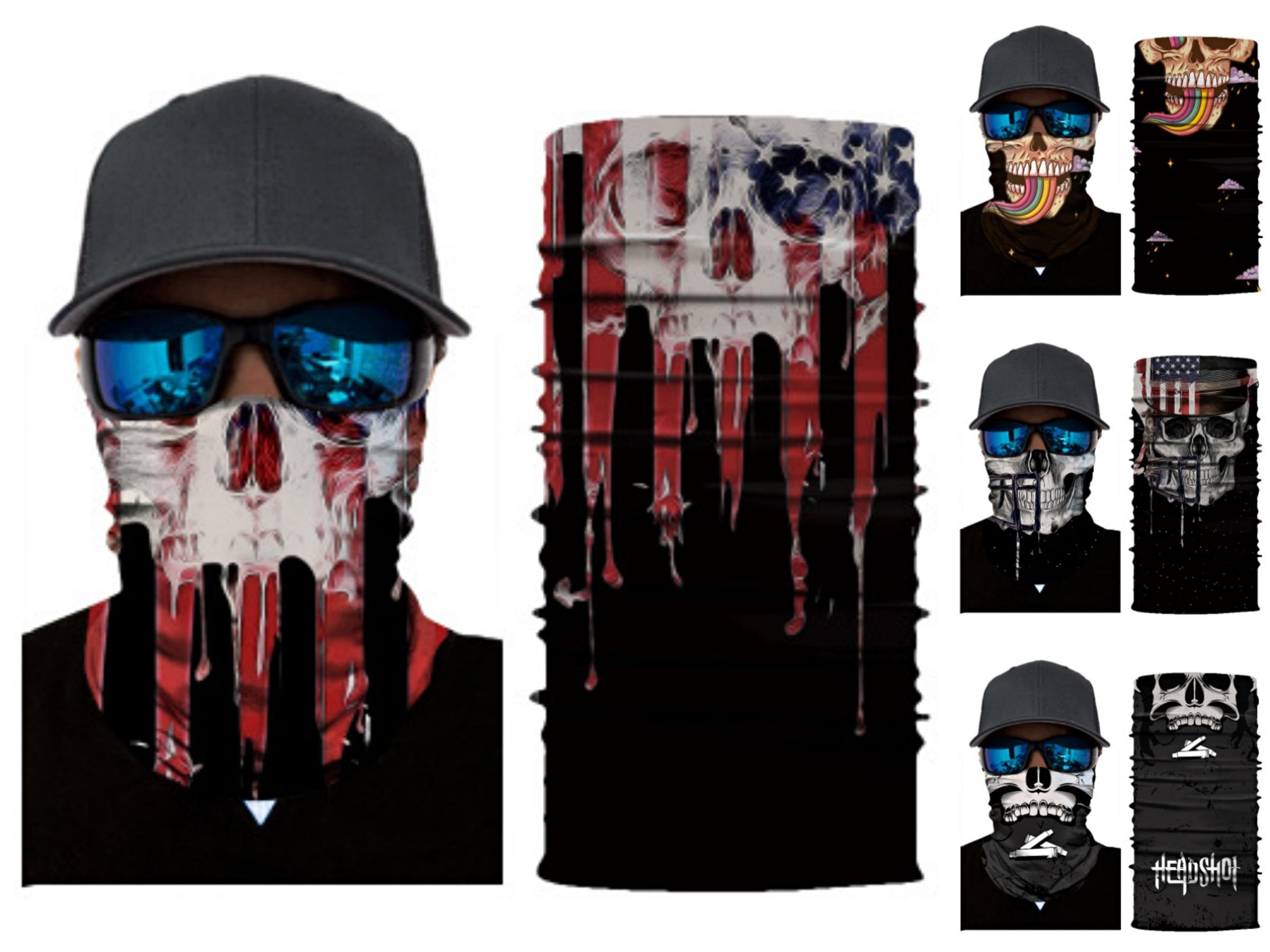 2020 Skull Anello Magico collo Skull Scarf fascia multifunzionale Bandana faccia senza saldatura di tubo Unisex Uomo Donna Unisex Scar # 449 # 786