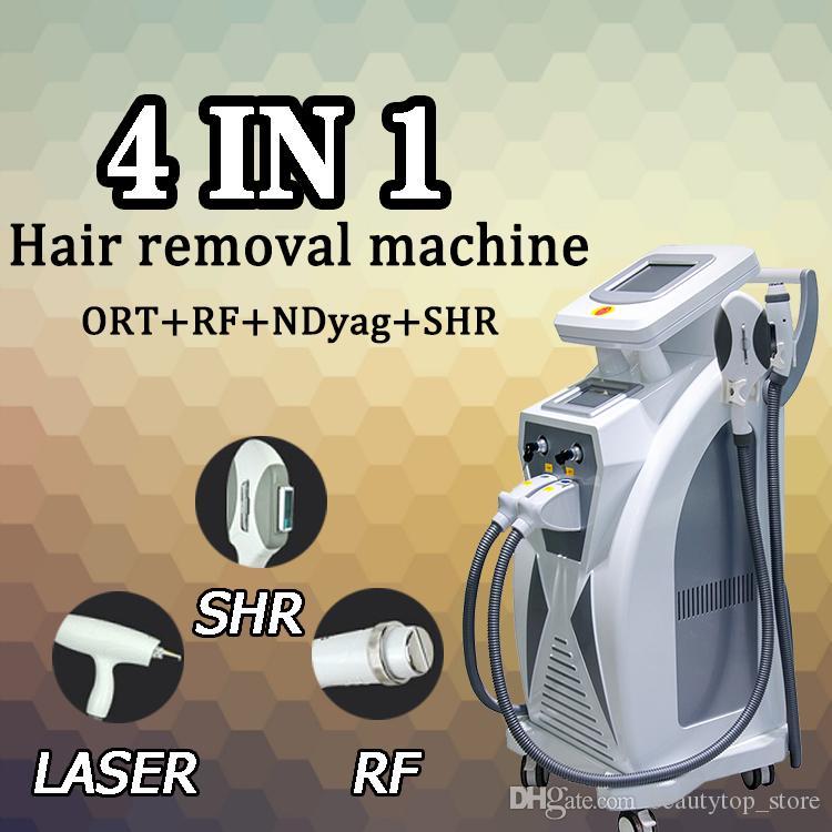 SM حار بيع 3 in1 elight ipl RF و Yag ليزر لإزالة الشعر ipl آلة الجمال شحن مجاني