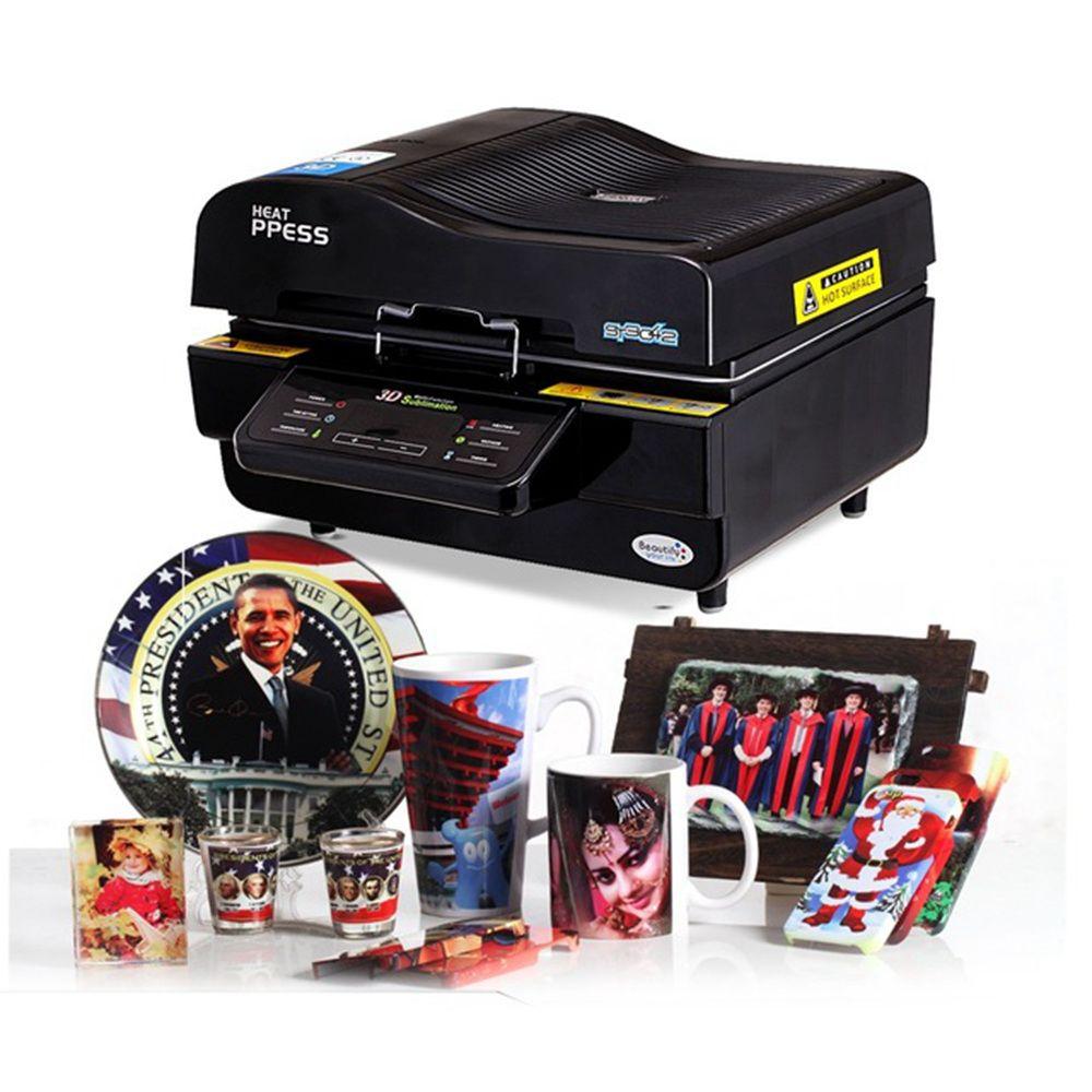 3D فراغ آلة التسامي ، آلة الصحافة التسامي / الحرارة ، القدح / تي شيرت / طابعة حالة الهاتف الخليوي ، آلة الطباعة الكأس / الرقمية