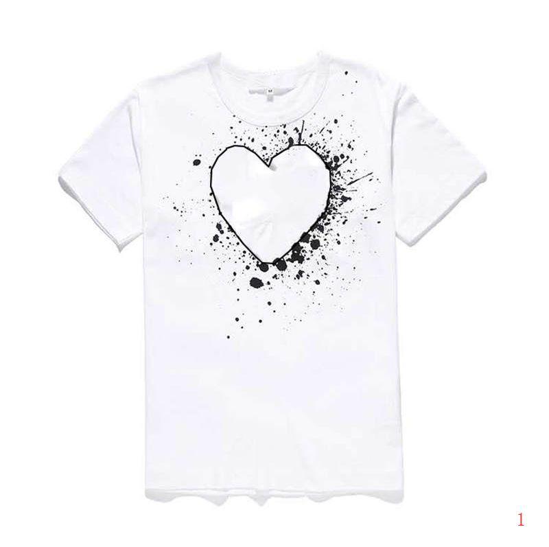 Hombres diseñador de la camiseta de la nueva marca de moda de verano camisetas de lujo camiseta de manga corta de las camisetas del corazón impresión divertida Top Tees28 LR200537