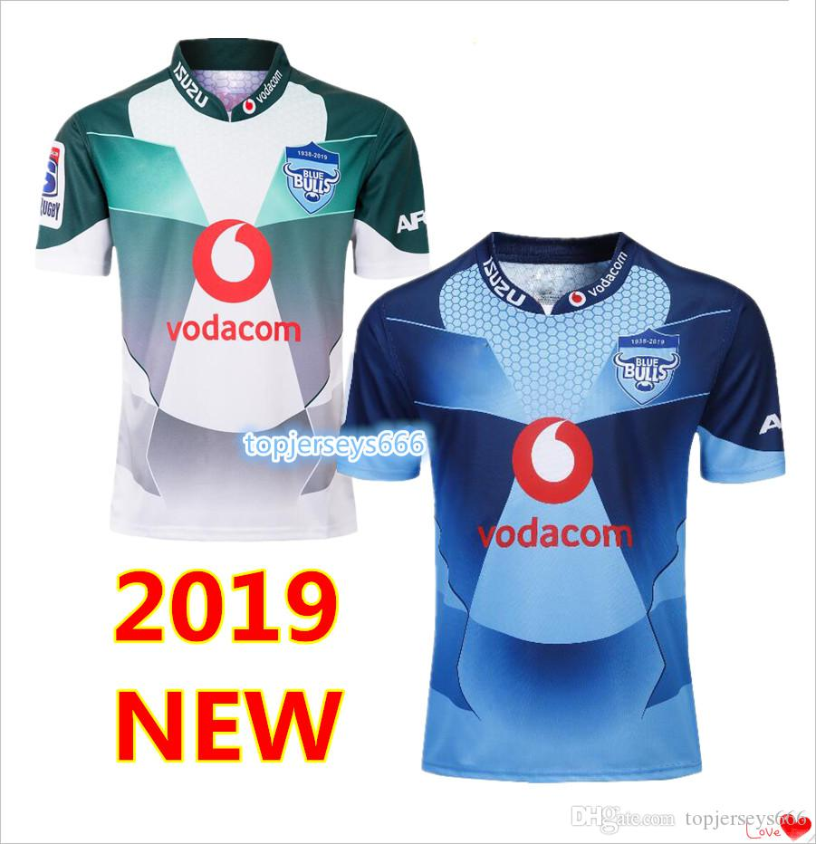 2019 New Super Rugby Südafrikaner Marvel Comic Captain America Vodacom Bulls Superheld Herren Rugby Trikots