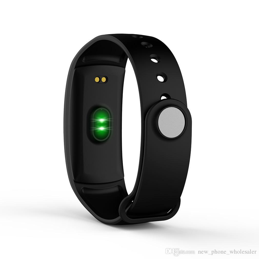 QS90 Smart-Armband-Blutdruck-Puls-Monitor-Smart Watch OLED-Bildschirm IP67 wasserdichte Fitness Tracker-Armbanduhr für iPhone und Android