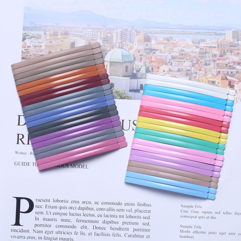 20шт радуги цвета Бобби Pin Wide Side Клип Корейские девушки резиновая краска Изогнутые Набор аксессуаров для волос 6см Моделирование Инструменты Деревообрабатывающий