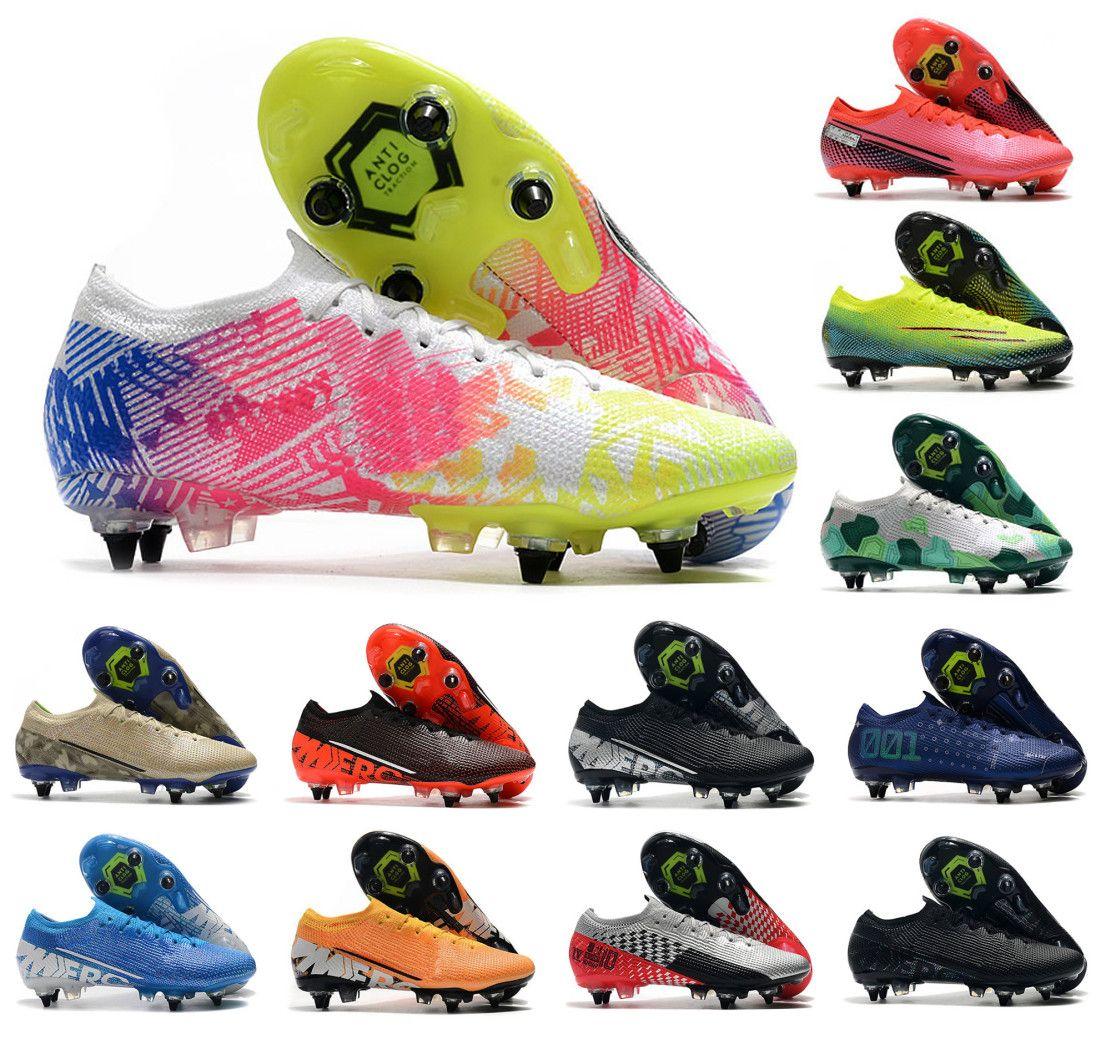 2020 para hombre Mercurial vapores 13 XIII Elite SG-PRO AC CR7 Zapatos Ronaldo NJR Neymar Jr. Mujer de Boys fútbol Botas de fútbol grapas del US6.5-11