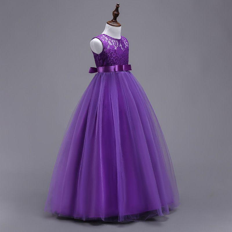 Princess Kids Dresses For Girls Clothing Flower Party Girls Dress Elegant Long Wedding Dress For Girl Clothes