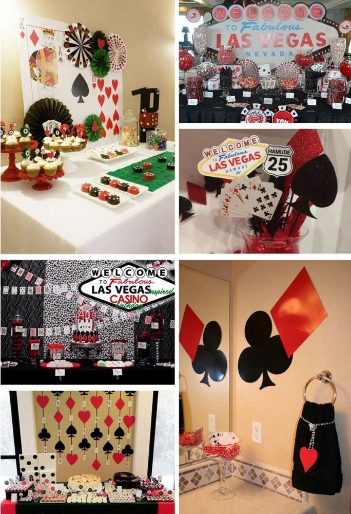 Compre 4 Unids Set Las Vegas Casino Fiesta Temática Decoración De Nido De Abeja Que Cuelga Colgando Símbolos De Naipes Set Casino Backdrop Decor A