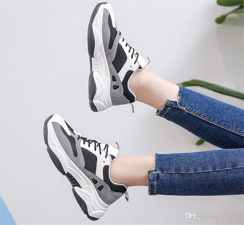 حار بيع الاتجاه 2020 الخريف والشتاء الجديدة الرياضية تنفس الهواء الطلق عارضة الأزياء الطلاب خياطة الأحذية النسائية