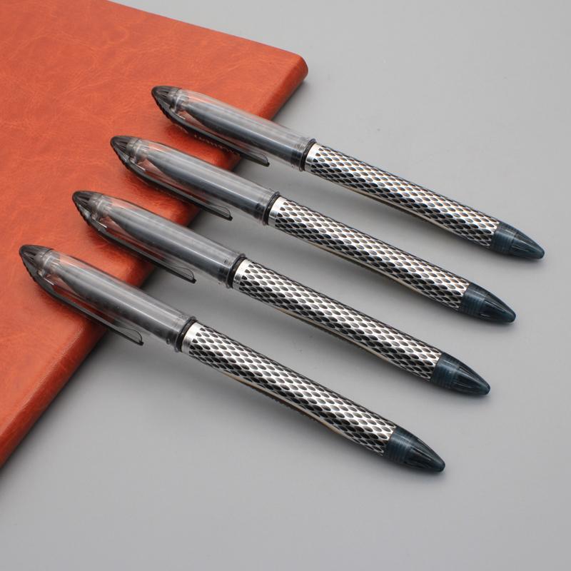 10pcs / set papeterie crayons à encre gel noir d'affaires Bureau d'écriture stylo gel pour stylos fournitures scolaires 0.5mm stylos tête aiguille