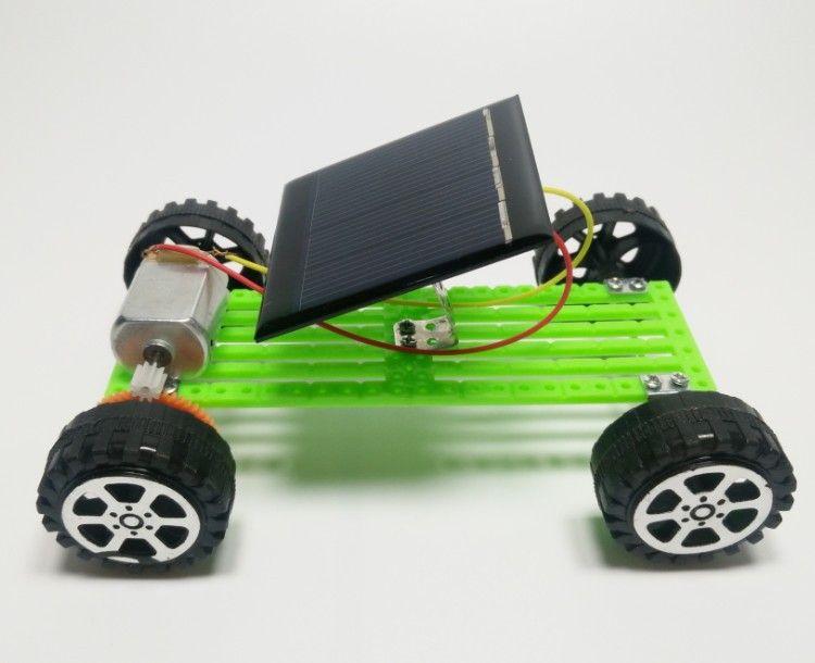작은 발명 태양 광 자동차 미니 태양 광 자동차 태양 전지 패널 브래킷 업그레이드