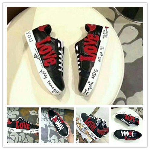 Luxo New Homens Mulheres Low Top Casual Shoes Fashion Designer Bordado Flor Sneakers 3 Cor Flats frete grátis 1h89
