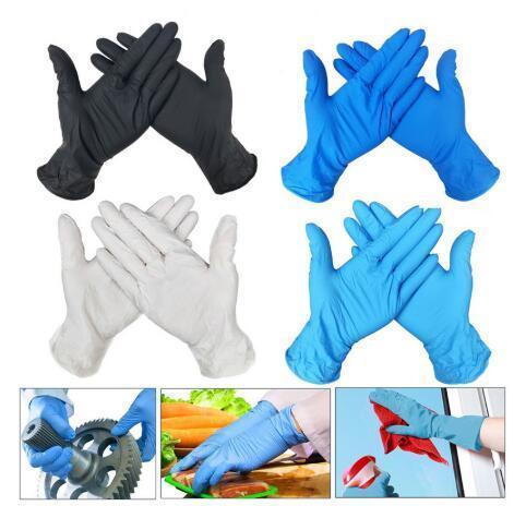 Stock DHL 100pcs gants en nitrile Gants en latex à usage unique gants universels de cuisine / vaisselle / / Travail / caoutchouc / Gants de jardin Gauche