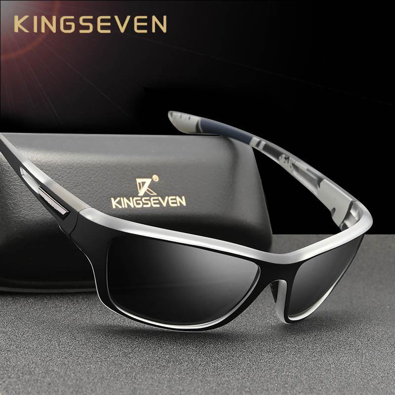 KINGSEVEN сверхлегкий поляризованных солнцезащитных очков мужчин мода новая спортивный стиль квадратных очки мужчины открытый путешествие очки УФ