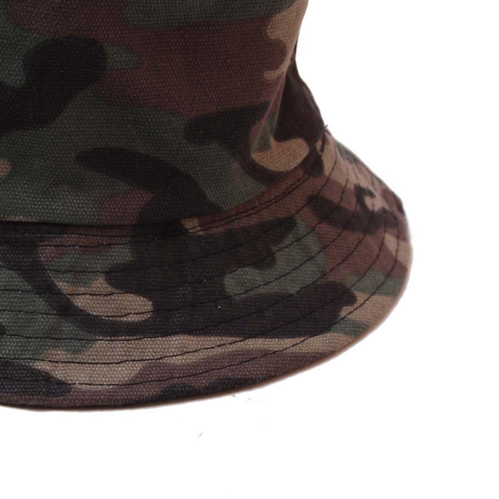 Summer Foldable Bucket Hat Unisex Camouflage Outdoor hat Sunscreen Cotton Fishing Hunting Cap Sun Prevent Hats#C