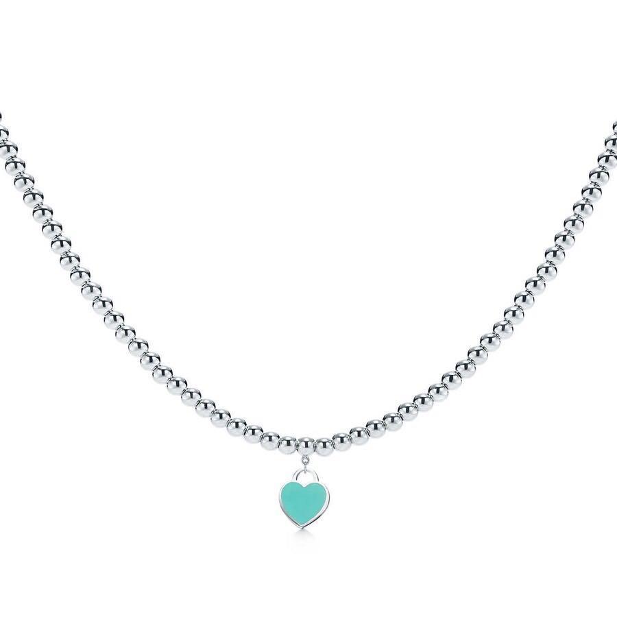 Avec LOGO et boîte originale collier concepteur coeur pour les couples de bijoux de luxe de mariage amant des femmes cadeau de HB0319