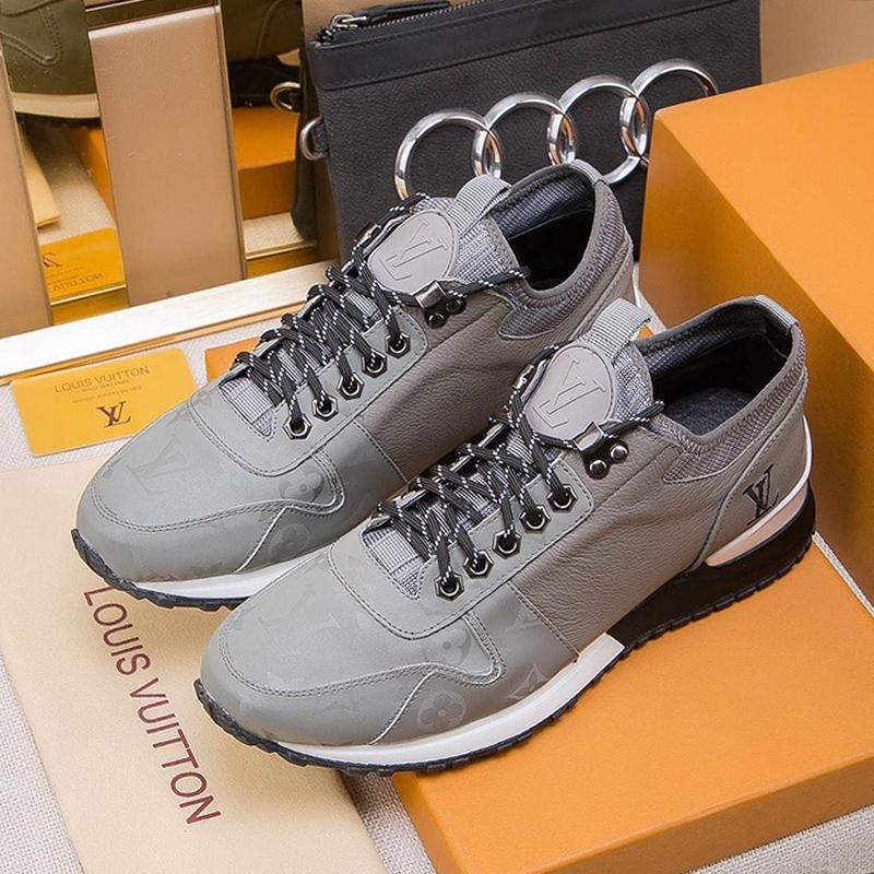 LouisVuittonLV Men Shoes Running Sports Sneakers Lace Up Footwears Fashion Mens Shoes With Box Chaussures Pour Hommes L56 Luxury S Sneakers Shoes