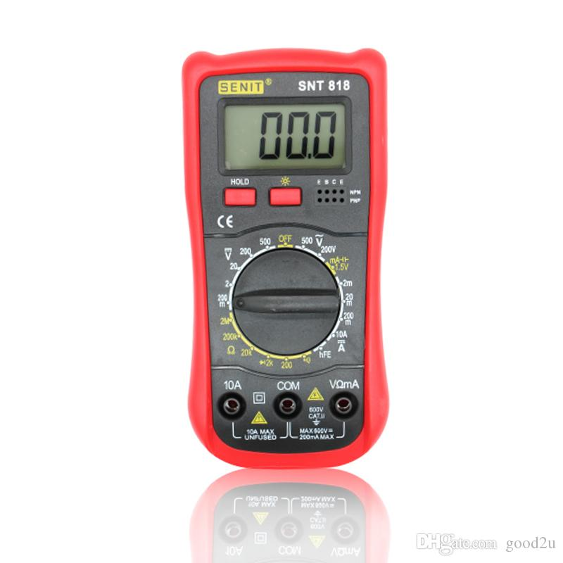 1999 цифры новый студент использовать вольтметр амперметр Multitester с подсветкой ЖК-дисплея цифровой мультиметр DMM SNT818