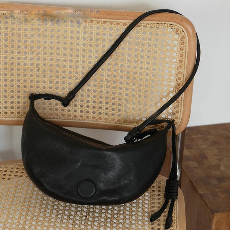 2019 Mode-Hand Frauen einfach Dumplings Tasche aus weichem Leder-Schulter-Umhängetaschen In Hot Frau Paket