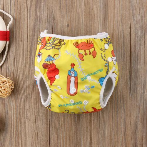 Focusnorm Baby Bebek Erkek Kız Bebek Swim Nappy Bezi Baskı Hayvan Sızdırmazlık Yeniden kullanılabilir Ayarlanabilir Şort