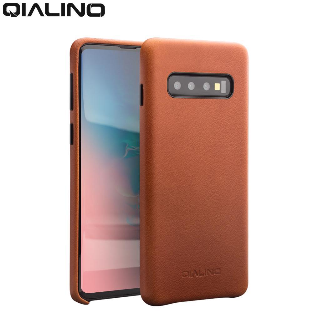 großhandel echtes leder tasche telefon case für samsung galaxy s10 + plus mode luxus zurück abdeckung für samsung s10 für 6,1 / 6,5 zoll