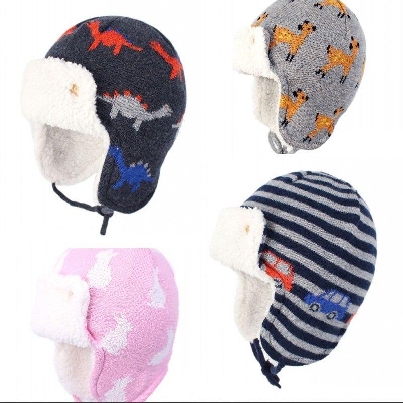 Toddler Boy Girls Warm Winter Cotton Beanie Newborn Animal Shaped Plush Cap CB