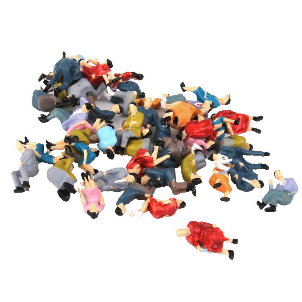 50pcs O scala tutti seduti Persone Sedersi Figure Passeggeri diverse pose