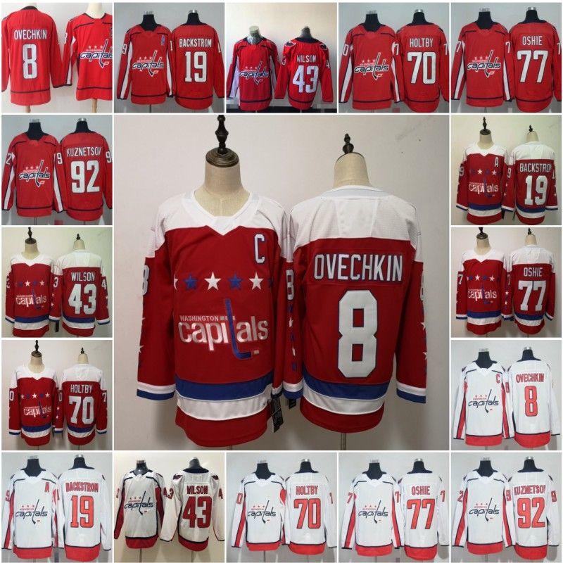 8 Alex Ovechkin 43 Tom Wilson Washington Capitals Hockey Jersey 92 Evgeny Kuznetsov 77 TJ Oshie 70 Braden Holtby 19 Nicklas Backstrom