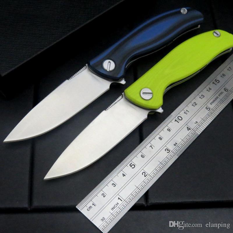 F3 전술 야영 접이식 칼 30 에보 블레이드 G10 손잡이 플리퍼 야외 생존 사냥 칼 EDC 도구