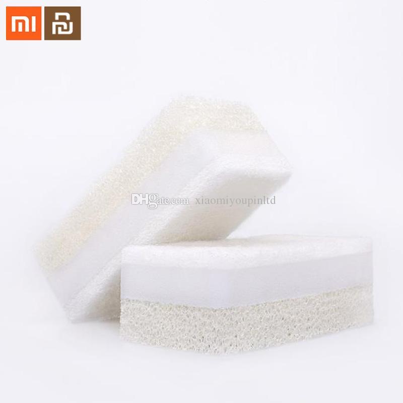 샤오 미 Youpin JieZhi 세 계층 복합 식기 브러시 주방 스폰지 가정용 청소 친환경 수색 패드 6PCS 3010260C3