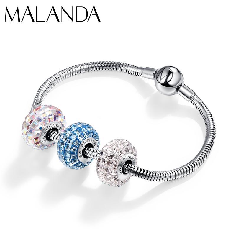 Malanda Crystals From Swarovski Round Beads Bracelet New Fashion ...