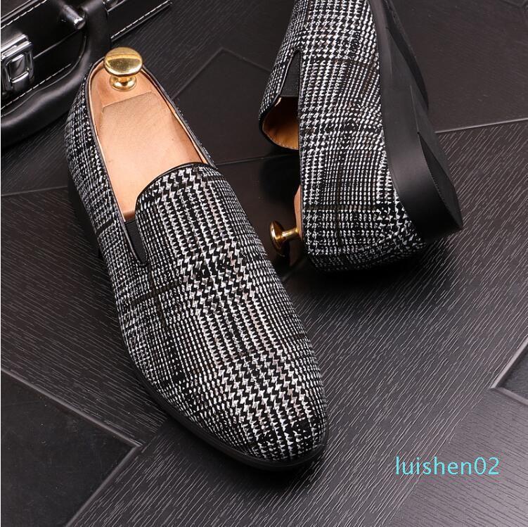 Männer Elegante Lederschuhe Classic Slip On Schuh für Herren aus italienischem Leder Männer Loafers Marke Herren Schuh L02
