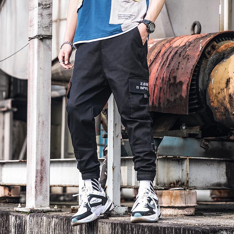 Verano pantalones delgados versión coreana masculina de la ocasional salvaje nueve puntos pantalones deportivos piernas haz guardapolvos de los hombres de haz tarjeta de marea
