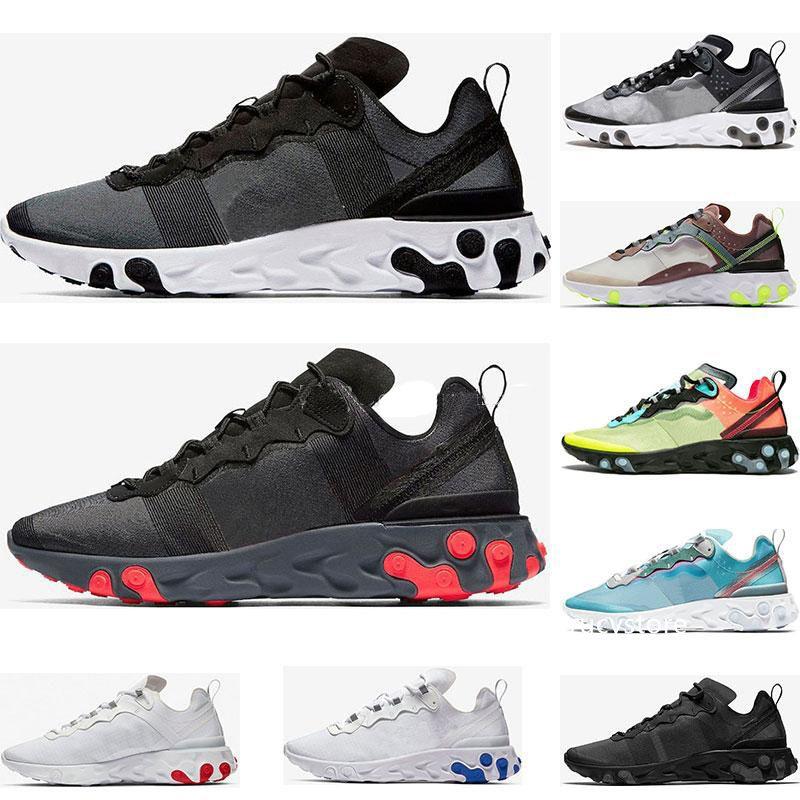 2019 siyah beyaz Kraliyet Ton Çölde Kum tasarımcı nefes spor boyutu 36-45 sneaker erkekler kadınlar için Eleman 87 55 koşu ayakkabıları Tepki