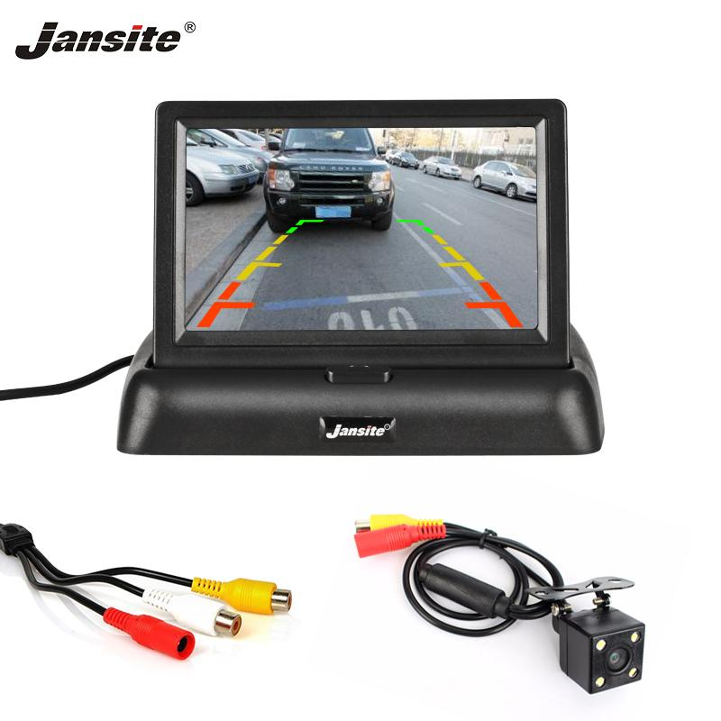 """Jansite 4.3"""" Car monitor TFT LCD Car Rear View Camera Parking Rearview System for Backup Camera Support VCD DVD Reverse image"""