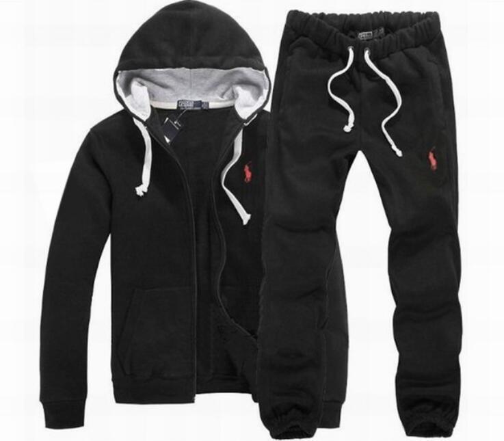 Para hombre de la marca del diseñador chándales de 100% algodón de la original de los hombres de moda de otoño de manga larga con capucha Sudaderas + Long Pants S-3XL