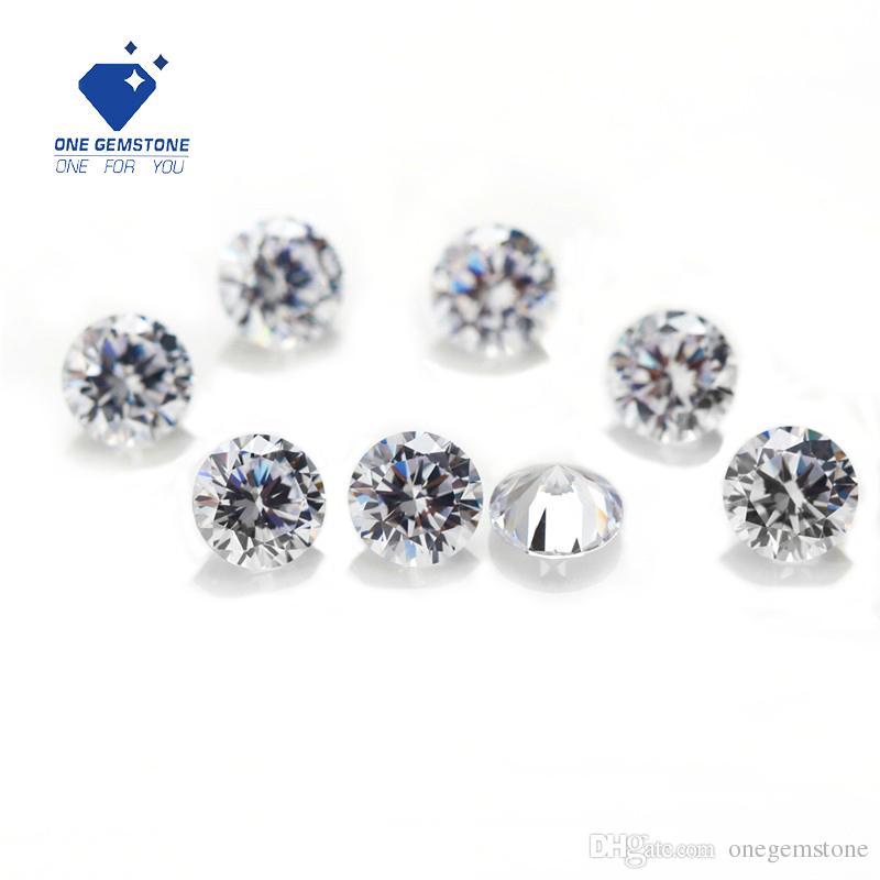 5 parti 1 carat colore 6,5 millimetri DEF forma rotonda moissanite con il prezzo all'ingrosso