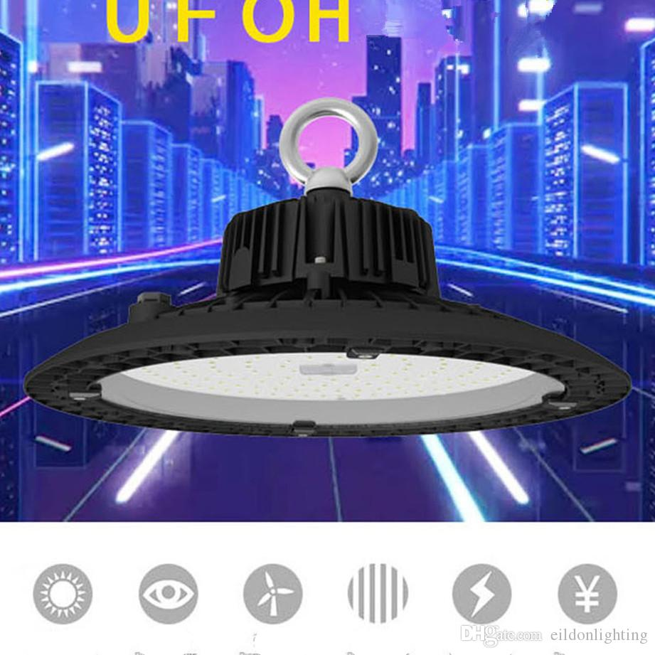 UFO Highbay Lights Sensor 150LM/W 5 years 200W 150W 120W 100W AC100-277V Industrial LED Lamps Motion Induction Waterproof IP65 China Factory