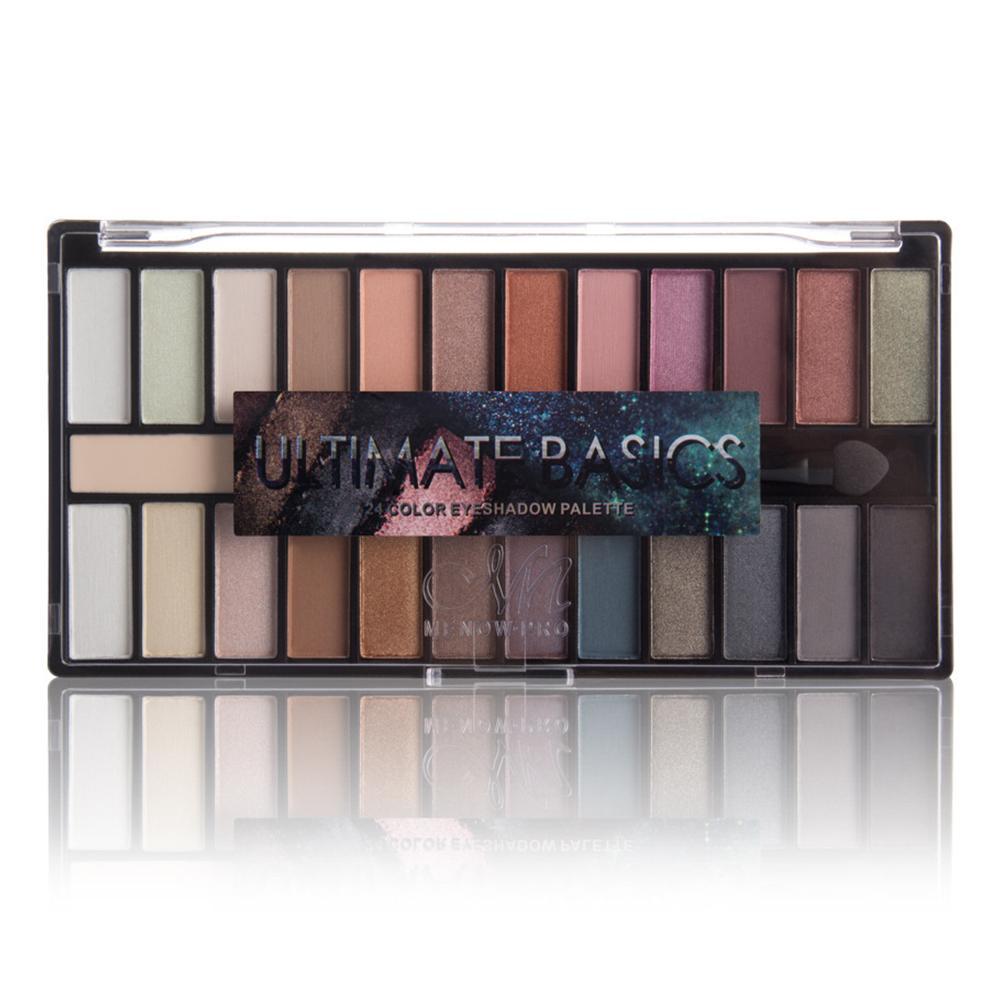 24 Cores Com Escova Espelho Pearlescent Charming Cosmetic Glitter Mulheres Eyeshadow Palette Primer Make Up lindo Luminous Matte