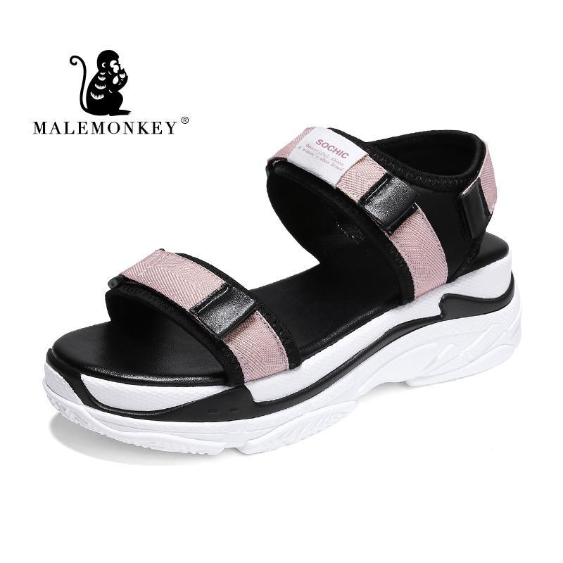 MALEMONKEY 821.516 signora Platform sandali femminili Espadrillas Estate 2020 Lady Fashion aperte in punta esterna confortevole Donna Sandali